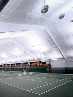 Dartmouth Tennis Complex view from court – Hanover, New Hampshire