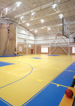 Landmark College Click Sports Center gymnasium and climbing wall – Putney, Vermont