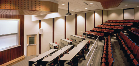 Landmark College East Academic Building interior auditorium – Putney, Vermont