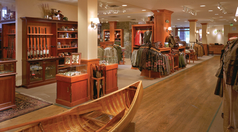 Orvis Retail Flagship interior – Manchester, Vermont